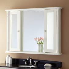 Bathroom Cabinets And Mirrors Modern Mirrored Bathroom Cabinet With 3 Shelves Bathroom Mirrors