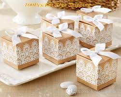 2016 creative wedding gift box of rustic and lace kraft favor box