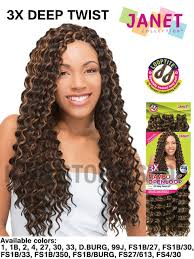 janet collection 3x caribbean braiding hair janet collection 3x mambo openloop deep twist braid 24 inch