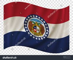 Misouri Flag Waving Flag Missouri State Usa Vector Stock Vector 708387559