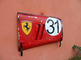 vintage ferrari art other ferrari 250 gto grand prix race car fender panel wall art