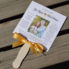 wedding fan program photo wedding fan program citrine designs
