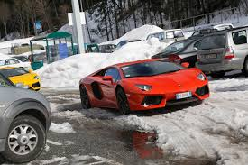 nissan leaf in snow lamborghini aventador road trip a bull for all seasons motor trend