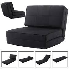 Folding Bed Chair Fold Down Chair Flip Out Lounger Convertible Sleeper Couch Bed