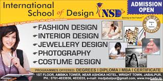offers courses in fashion design interior design jewellery