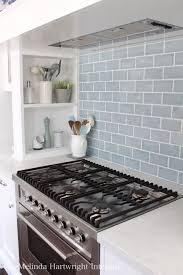 Marble Top Kitchen Work Table by Blue Subway Tile Splash Back Range Good Marble Bench Top Ilve