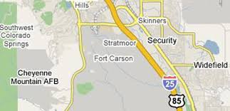 fort carson map installation overview fort carson colorado