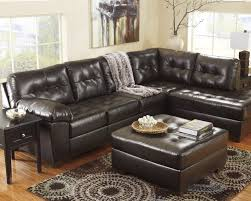 chocolate storage ottoman alliston durablend chocolate right arm facing sectional from
