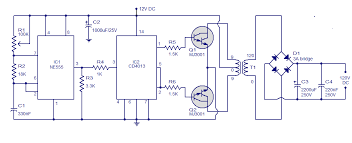 schematic u0026 wiring diagram simple circuit 12v to 120v dc dc converter