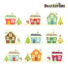 christmas houses christmas houses clip set daily hub