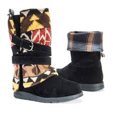 zulily s boots s muk luks mid calf boots blanket style with wrapped