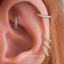 hoop cartilage earrings zircon daith piercing daith earring hoop cartilage helix hoop