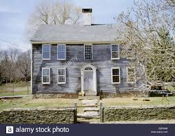 colonial farmhouse 18th century colonial farmhouse westbrook connecticut stock
