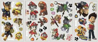 kids room nursery wall decals babies paw patrol peel and stick wall decals