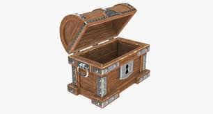 wooden trunk wooden chest 3d model cgtrader