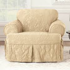 sure fit matelasse damask t cushion sofa slipcover sure fit matelasse damask 1 piece t cushion kick pleat chair