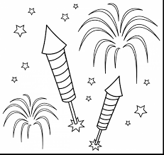 remarkable printable fireworks coloring pages with fireworks