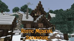 Rustic House Minecraft Gundahar Tutorials Rustic Medieval Snowy House Youtube