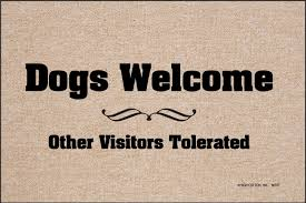 dogs welcome doormat funny doormats u2013 high cotton inc