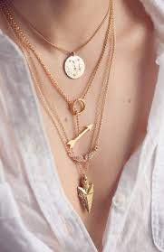 gold pendant fashion necklace images More is more with the layered necklace jpeg