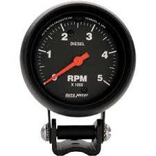 auto meter 2888 z series diesel tachometer 2 5 8
