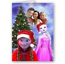 personalised photo disney frozen anna u0026 elsa christmas card a4