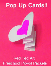 Make Valentines Card - valentine u0027s cards pop up card cards craft and valentine crafts