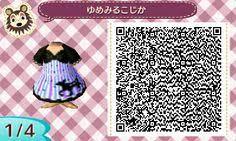 animal crossing cute dresses qr codes