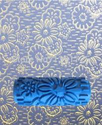 paint rollers with patterns decorative paint rollers walls purple white pretty flower pattern