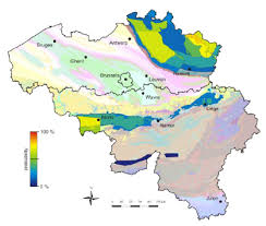 belgium map outline the geological map of belgium overlain with the outline of the