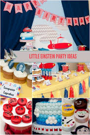 einstein boy birthday party spaceships laser beams