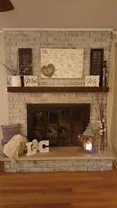 fireplace decorating ideas white wash fireplace decor startthefire keepitburning