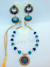 silk thread jhumkas archives all ap crafts