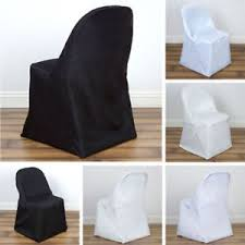 Polyester Chair Covers 25 Pcs Polyester Round Folding Chair Covers Wedding Catering Party