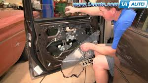 how to install repair replace broken power window regulator olds