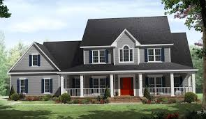 Country 2 Story House Plan Striking At Popular Captivating