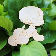 aliexpress com buy wooden laser cut cute baby shape craft