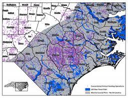 Map Of North Carolina Coast Exposing Fields Of Filth Waterkeeper Alliance