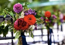 spring wedding chair flowers peony lilac jpg