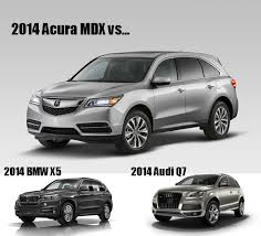 bmw x5 competitors the 2014 acura mdx vs the competition tischer automotive