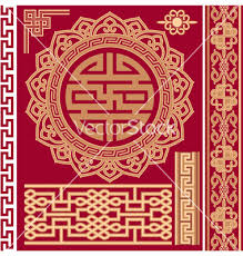 set of oriental design elements vector dragon crane asian