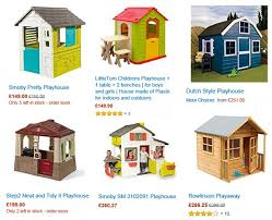 Amazon Backyard Playsets by Playhouses From Amazon Uk Swing Set Specialist