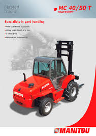 mc 50 manitou pdf catalogue technical documentation brochure