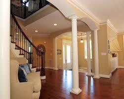 modular home kits log cabins house entry decor with white pillars