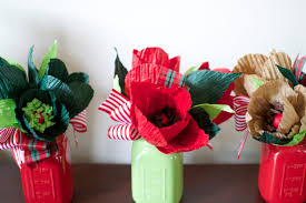 Christmas Table Centerpiece by Christmas Table Decor Decoration Centerpiece Paper Flowers