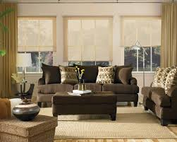 Contemporary Living Room Furniture Living Room Brown Leather Sectional Sofa Dark Grey Rug Stainless