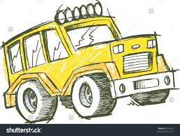 jeep vector sketchy jeep vector illustration stock vector 3539429 shutterstock