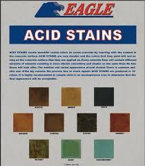 eagle concrete acid stain color chart basement pinterest