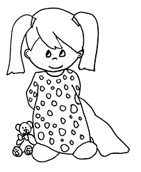 sad woman coloring clipart
