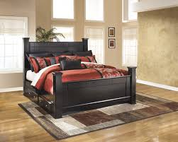 king poster bedroom set shay king poster bed with underbed storage b271 61 66 68 50 99